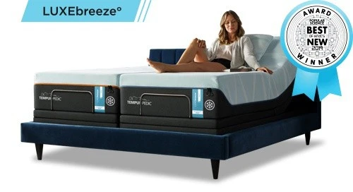 Luxe Breeze bed with science award medal